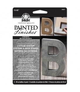 02) 5067 Concreto Tinta FolkArt Painted Finishes Set 2 x 59 ml.