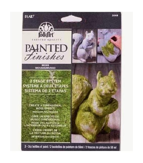 03) 5068 Moss Acrylic FolkArt Painted Finishes Set 2 x 59 ml
