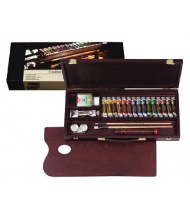 Caja pintura oleo Rembrandt madera Traditional 15 tubos