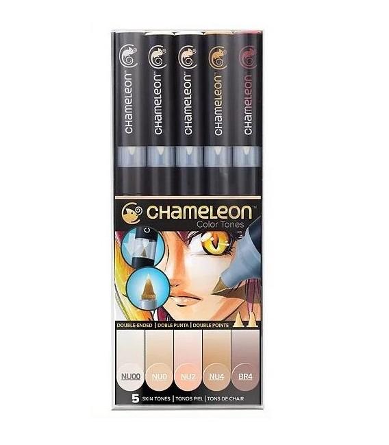 Chameleon Skin Tones Set 5 Marker Pens