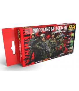 AK3250 Woodland And Flecktarn Camouflages Set 6 u. 17 ml