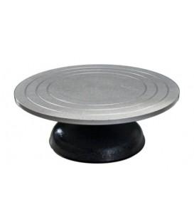 d) Tournette metallique 30 cms ø