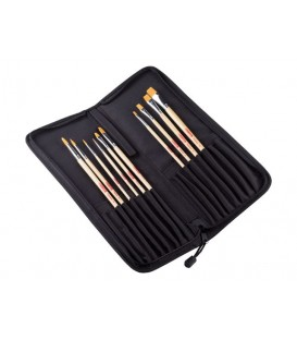 07b) 10 Brushes Set and Polyester organizer with zip.