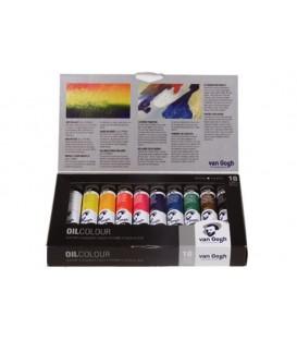 Caja pintura oleo Van Gogh Set Basico 02C410 10 tubos 20 ml