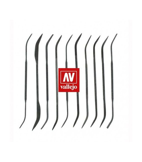 10 Curved Files Set Vallejo T03003