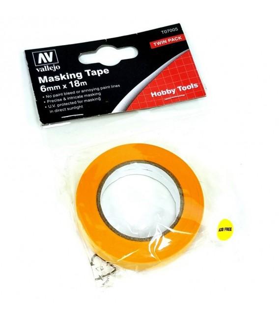 Masking Tape Vallejo T07005 6mm x 18 m.