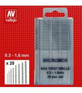 Set de 20 Minibroques 0.3-1.6 mm Vallejo T01001
