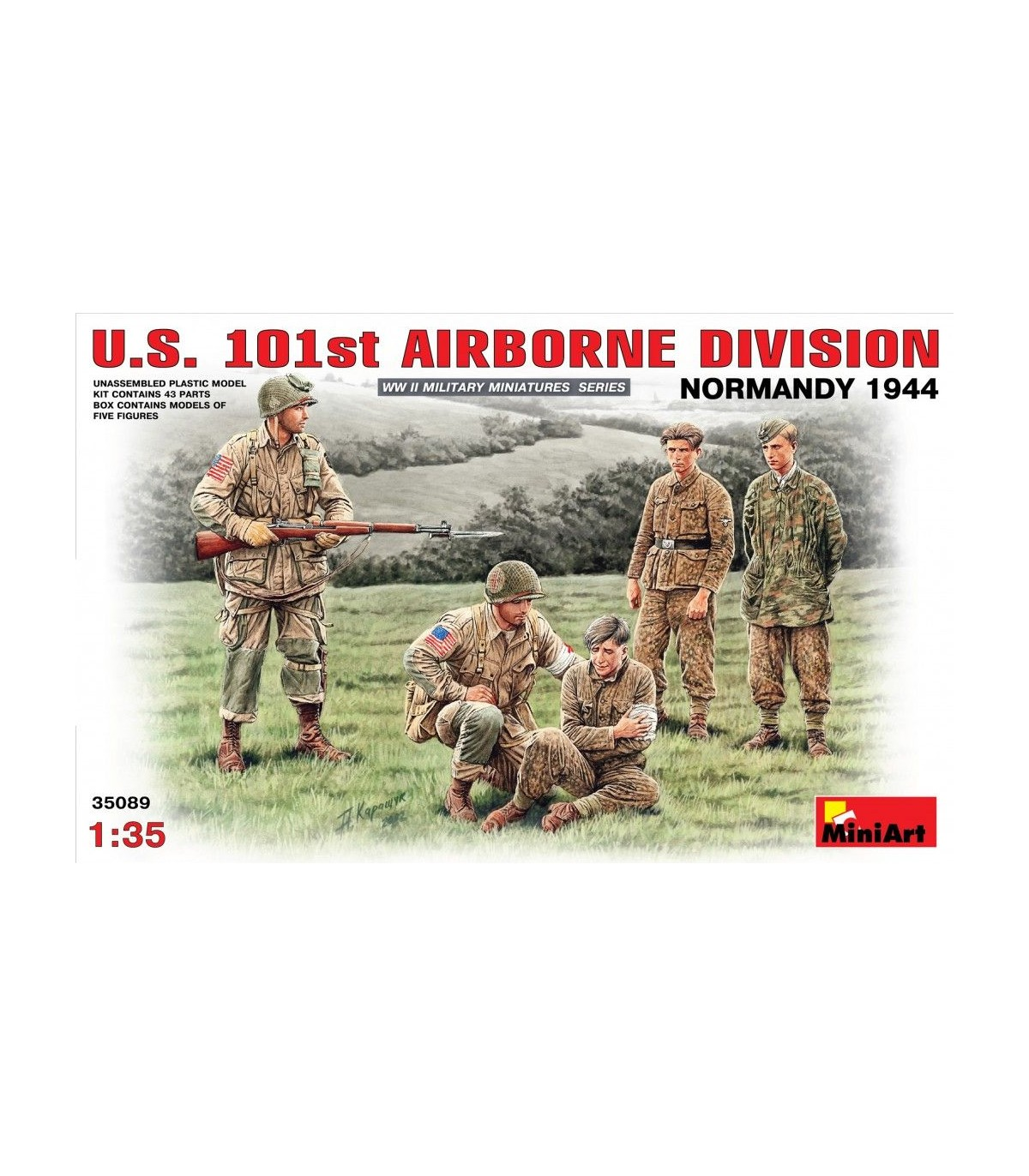 35089 U S 101st Airborne Division Normandy 1944