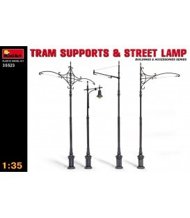 35523 Tram Supports and Street Lamp