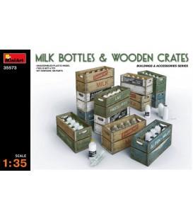 35573 Milk Bottles & Wooden Crates