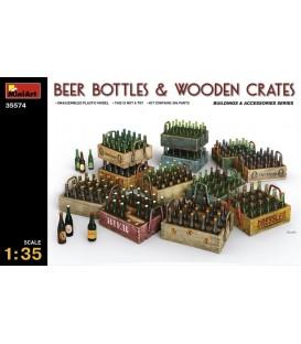 35574 Beer Bottles & Wooden Crates