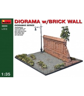 36055 Diorama with Brick Wall