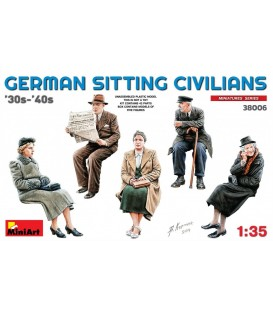 38006 German Sitting Civilians 30s-40s