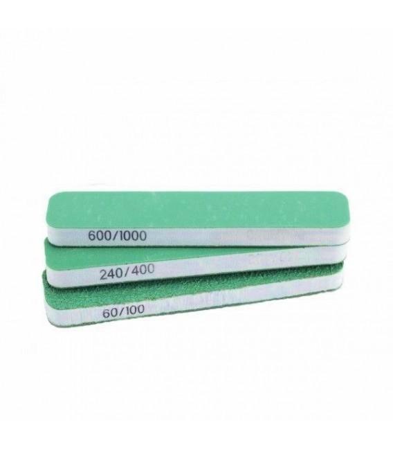 Set 3 Vallejo Abrasive Sanding Sponges Dual-Grit 80x30x12 mm