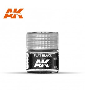 RC001 Flat Black 10ml. AK Real Colors