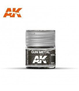 RC015 Gun Metal 10ml. AK Real Colors