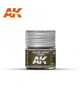RC024 Olive Drab Faded 10ml. AK Real Colors