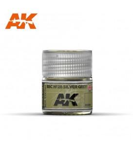 RC038 BSC Nº28 Silver Grey 10ml. AK Real Colors