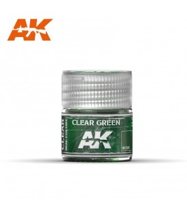 RC505 Clear Green 10ml. AK Real Colors
