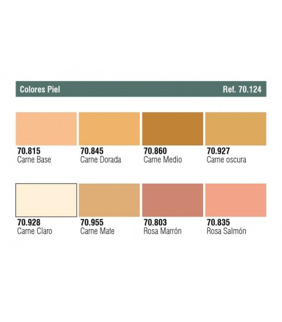 Set Vallejo Model Color 8 u. (17 ml.) Skintones Colors