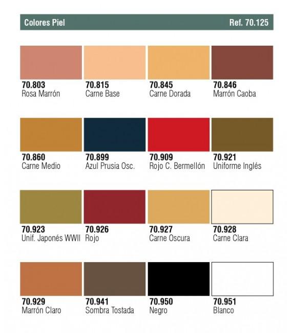 Set Vallejo Model Color 16 u. (17 ml.) Face & Skinstones