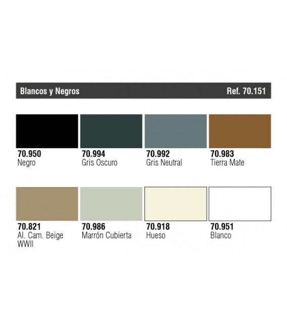 Set Vallejo Blanc i Negre (Model Color).