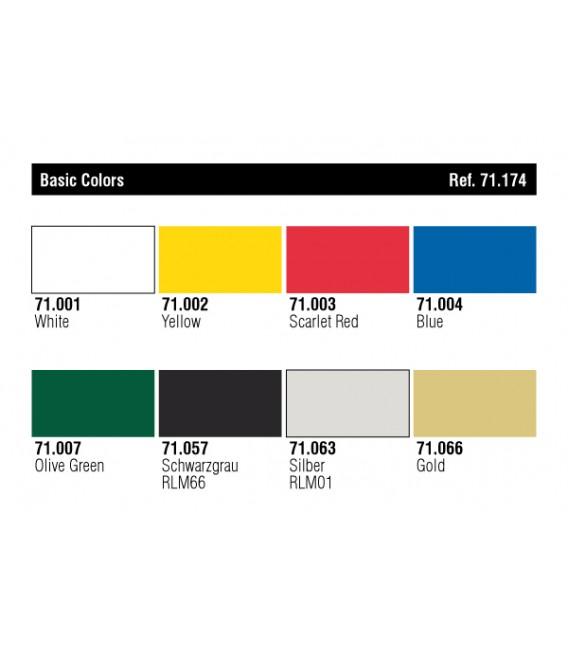 Set Vallejo Model Air 8 u. (17 ml.) Colors Basics