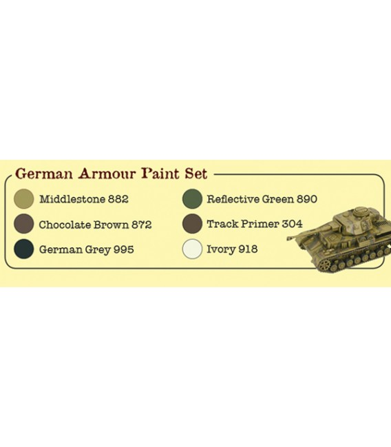 Set Vallejo WWII Wargames 6 u. (17 ml.) German Armour