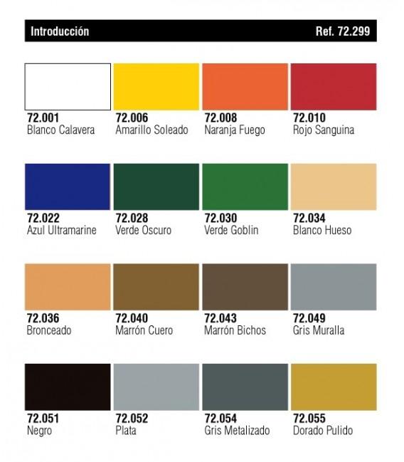 Set Vallejo Game Color 16 u. (17 ml.) Introduccio.