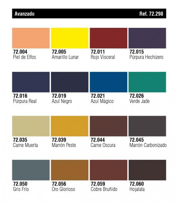 Set Vallejo Game Color 16 u. (17 ml.) Avanzado.