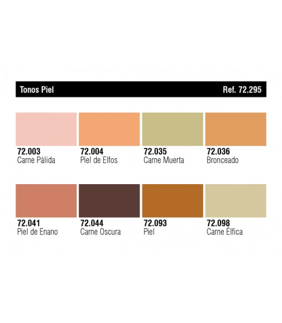 Set Vallejo Game Color 8 u. (17 ml.) Tonos Piel.