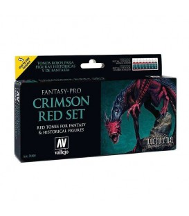 Set Vallejo Fantasy-Pro 8 u. 17 ml. Crimson Red Set