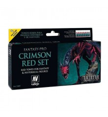Set Vallejo Fantasy-Pro 8 u. 17 ml. Crimson Red Set