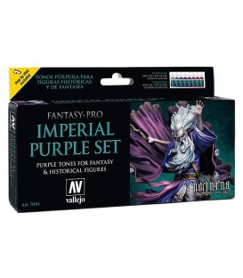 Set Vallejo Fantasy-Pro 8 u. 17 ml. Imperial Purple Set