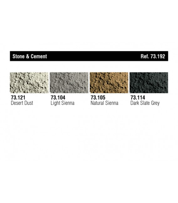 "73.192 ""Stone and cement"" Pigments Vallejo"