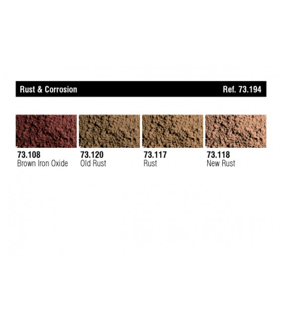 """73.194 """"Oxido y Corrosión"""" Pigmentos Vallejo"""