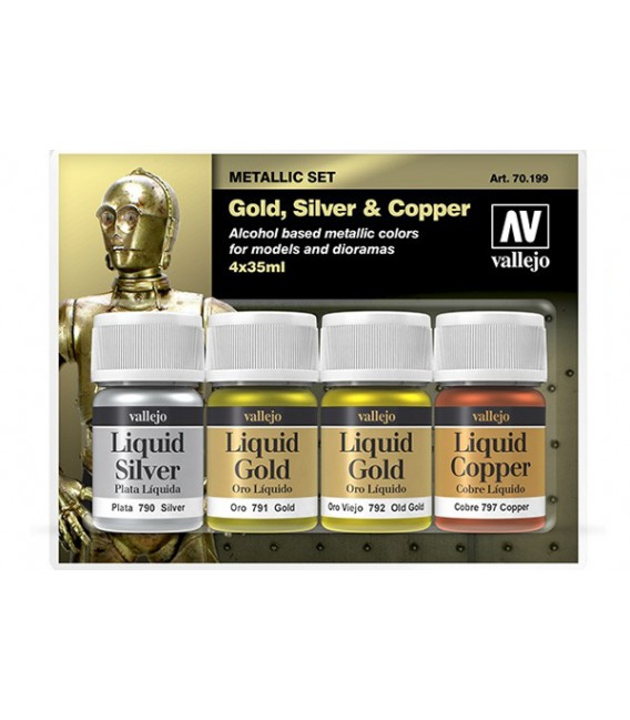 "70.199 Set ""Liquid Gold"" 4 u. (35ml.)"