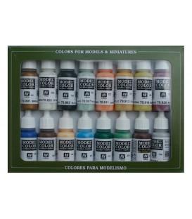 Set Vallejo Model Color 16 u. (17 ml.) Nautic (Edat Vapor)