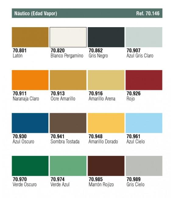 Set Vallejo Model Color 16 u. (17 ml.) Nautico (Edad Vapor)