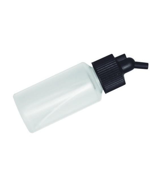 d) Godet en plastique translucide 28 ml. pour aerographe (DP04)