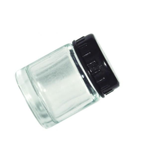 h) Godet en verre avec couvercles 22 ml. (DC01)
