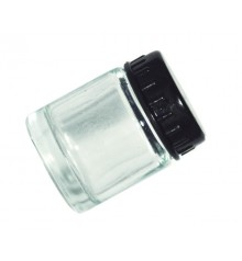 h) Glass bottles with cover 22 ml. (DC01)