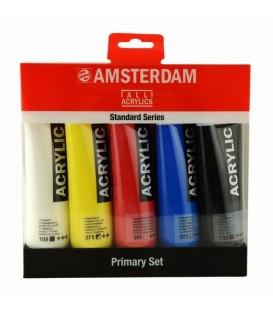 Set 5 acrilici Amsterdam 120 ML colori primari