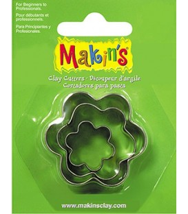 36008 Flowers Set 3 Cutters Makins