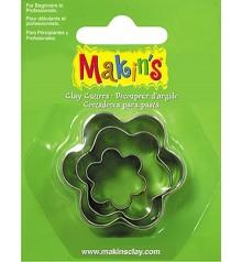 36008 Flors Set de 3 talladors Makins