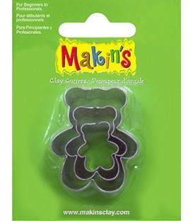 36011 Teddy bears Set 3 Cutters Makins