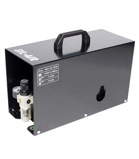 d) Automatic airbrush compressor SIL-AIR 15 A
