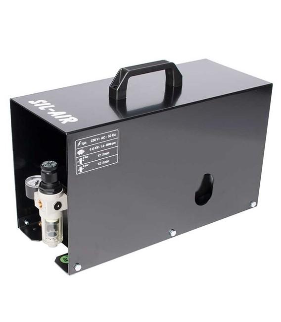 d) Compressore automatico per aerografo SIL-AIR 15 A