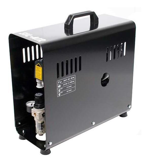 e) Automatic airbrush compressor SIL-AIR 30 D