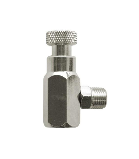 h) Airbrush airblast regulator adaptor